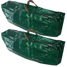 Shopping bag per la vita Cerniera Coperchio Jumbo Heavy Duty Carrier Bag Verde x 2