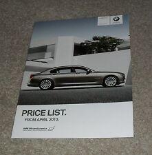 BMW 7 Series Prices Brochure 2010 740i 750i 760i 730d 740d SE / M Sport