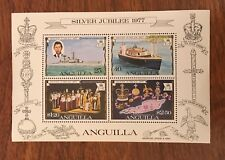 Anguilla stamp Mini sheet silver jubilee 1977      Ja