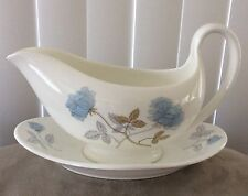 Wedgwood ICE ROSE Gravy Boat & Underplate Excellent Condition