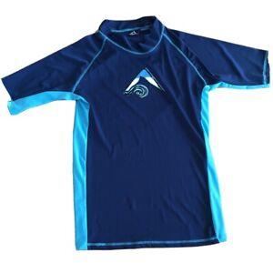 Kanu Surf Mens Mercury UPF 50+ Short Sleeve Sun Protective Rashguard Shirt SMALL