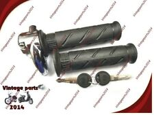 """Locking Throttle Twist grip and Grip Set, 7/8"""" Bars, for Royal Enfield Classic"""
