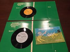 GHOST CHARLIE BOOK & CURIOUS GEORGE GETS A JOB 33 1/3 RPM RECORD - SET