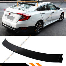 FOR 2016-2018 HONDA CIVIC 4DR SEDAN PAINTED BLACK REAR WINDOW ROOF SPOILER VISOR