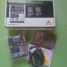 BEHRINGER USB/Audio Interface XENYX 302USB 5-Input mixer F/S from JAPAN