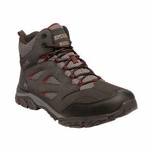 Regatta Men's Holcombe IEP Waterproof MID Hiking Boots - Ash Grey/Rio Red