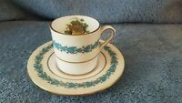 Wedgwood Appledore Bone China Demitasse Cup & Saucer Made in England