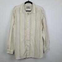 The Territory Ahead Sz XL Long Sleeve Men's Button Down Shirt Cotton Stripes