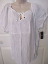 NWT - CHAPS Pretty top w/short sleeves & decorative front - sz 1X - MSRP $65.00