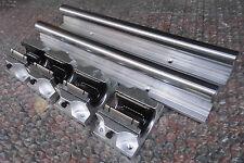 2XTBR25-1500mm 25MM FULLY SUPPORTED LINEAR RAIL SHAFT+ 4 TBR25UU Rounter Bearing