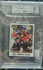 1988-89 Michael Jordan PANIN SPANISH STICKER #261 BECKETT MINT 9