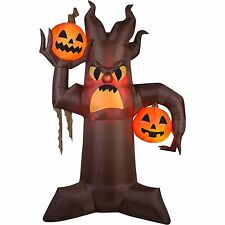 GEMMY TREE HALLOWEEN AIRBLOWN INFLATABLE 10.5' TL SCARY W PUMPKINS