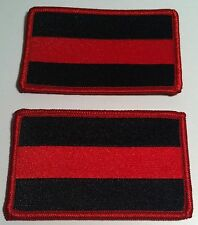 2 FALLEN FIREMAN PATCH with VELCRO® BRAND Fastener FIREFIGHTER FD