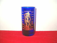 OFFICAL 1997 123  2 oz. CORDIAL; COBALT WITH GOLD EVENT LOGO SHOT GLASS