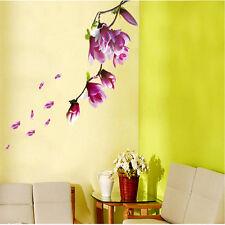 Wall Decor Decals Sticker Removable Big Magnolia Flowers DIY Art Room