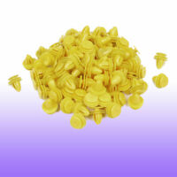 100 Pcs Yellow Plastic Clips Fasteners Replacement for Vehicle Cars