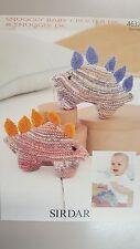 Sirdar Knitting Pattern #4632 Dinosaur Toy to Knit in Snuggly Baby Crofter DK