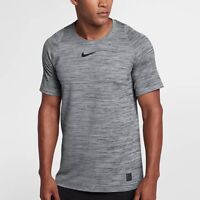 Nike Pro Fitted Training Shirt  Gray Black New 859216 Dri-Fit Large