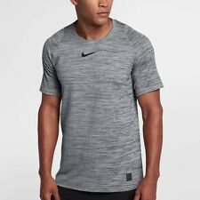 Nike Pro Fitted Training Shirt Gray Black Slim Fit 859216 Dri-Fit Medium