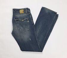 Met jeans donna slim strappi w29 tg 42 43 vita bassa blu usati destroyed T2561