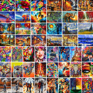Colorful DIY Paint By Numbers Kit Digital Oil Painting Creative Art Home Decor