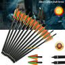 6/12/24PK Archery 20'' Carbon Shaft Arrow Bolts For Crossbow Hunting 8.8mm Vanes
