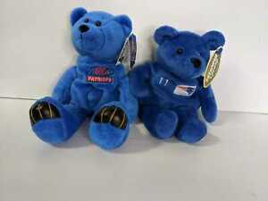Lot of 2 Drew Bledsoe New England Patriots Limited Treasures Beanie Baby Bear