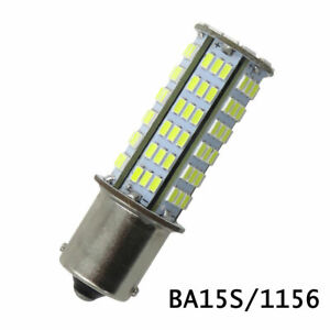 1pcs BA15S 1156 1141 S8 SC LED bulb 126*3014 SMD AC/DC 12~24V 4W, White 6500K