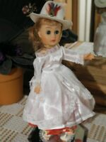 """VTG Circle P COTY Doll Miss Rodeo Cowgirl, Hat Red Slip Shoes + Mirror Stand 10"""""""