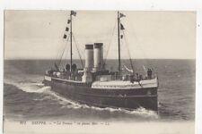 Dieppe Steamship La France En Pleine Mer LL Postcard 383a