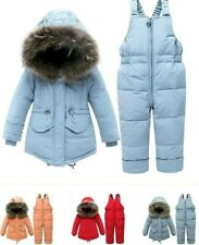 Long Sleeves Children Baby Kids Warm Snowsuit Outerwear And Romper Clothing Set