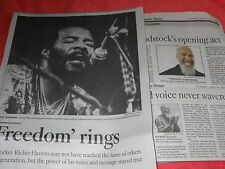 1941-2013 RICHIE HAVENS OBITUARY FREEDOM RINGS WOODSTOCK SPIRITED VOICE