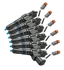 CUMMINS ISX DIESEL INJECTORS (two cam) REBUILT (SET OF 6) * EXCHANGE * WARRANTY