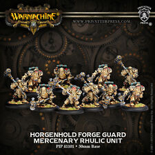 Warmachine BNIB - Mercenary Horgenhold Forge Guard (10) REPACK