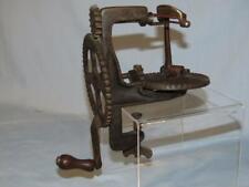 CIRCA 1856 LOCKEY & HOWLAND PRIMITIVE TURN TABLE IRON APPLE PARER SLICER PEELER