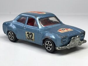 Vintage Corgi Juniors Whizzwheels Ford Escort MK1 Monte Carlo Rally
