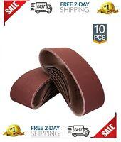 10 Pack WEN 6515SP400 400-Grit 1 x 30 Sanding Belt Sandpaper