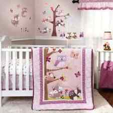 Set Bedding Crib Baby 3 Piece Nursery Girl Infant Boy Darling Owl Tootsie Gift
