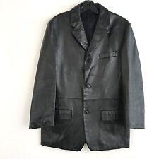 CK Calvin Klein Mens Blazer Leather Jacket Three Button Size Medium