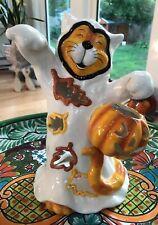 Blue Sky Goldminc Halloween Ghost Cat Trick Treat T-LiteTealight Candle Holder