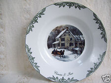 "Thomas Currier & Ives 8"" Vegetable Soup Bowl 2000 Museum of the City of Ny New"
