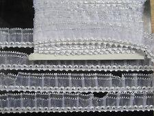 2 METER Spitze Nichtelastisch Weiß SILBER Borte 4cm elegante BB330 top mode