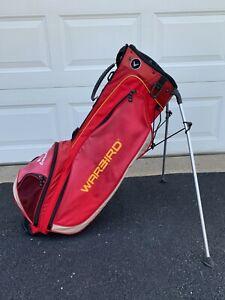 Callaway Warbird XTT Dual-Strap Stand Bag - Black/Red - 6 Way Divider - 5 Pocket