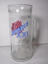 Vintage 1987 Super Bowl Xxi 21 New York Giants Nfl Football Beer Mug Phil Simms