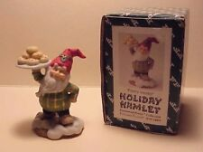 "Vintage Holiday Hamlet ""Pastry Vendor"" Fitz and Floyd 1993 Signed Rare"