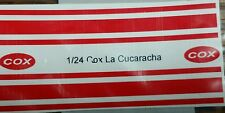 Repro 1/24 Cox La Cucuracha Peel-N-Stick Decal Set