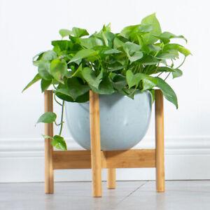 Garden Wooden Plant Stand Pot Planter Holder Rack Display Shelves Outdoor US