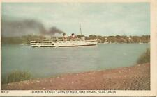 "ag(X) Steamer ""Cayuga"" Going up River, Near Niagara Falls, Canada"
