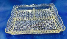 Vintage Pressed Glass Divided 3 Part Relish Dish or Tray