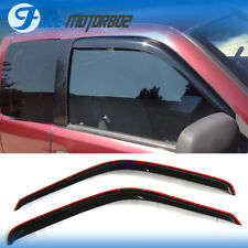 Fits 94-01 Dodge Ram Coupe Slim Style Acrylic Window Visors 2Pc Set